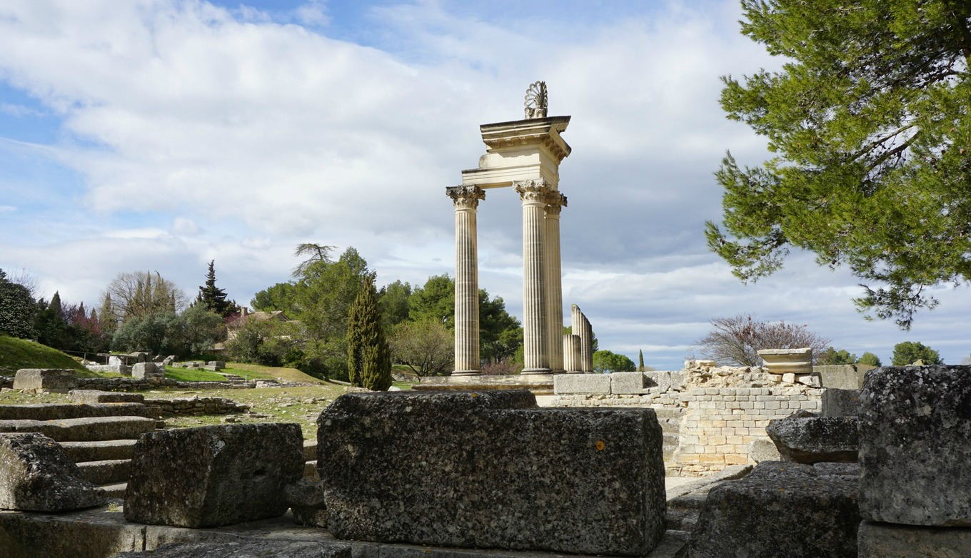 Restored Roman temple in Glanum
