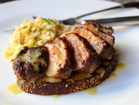 Pastrami-Spiced Duck Breast Reuben – Prepare to Open Face