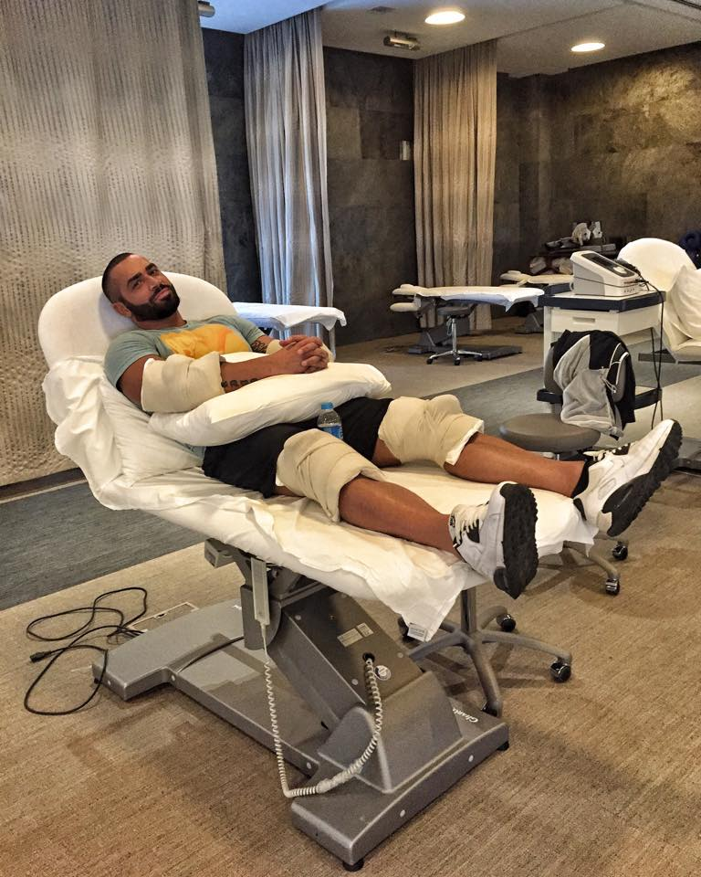 Lazar Angelov iced out after therapy at Acıbadem Sports
