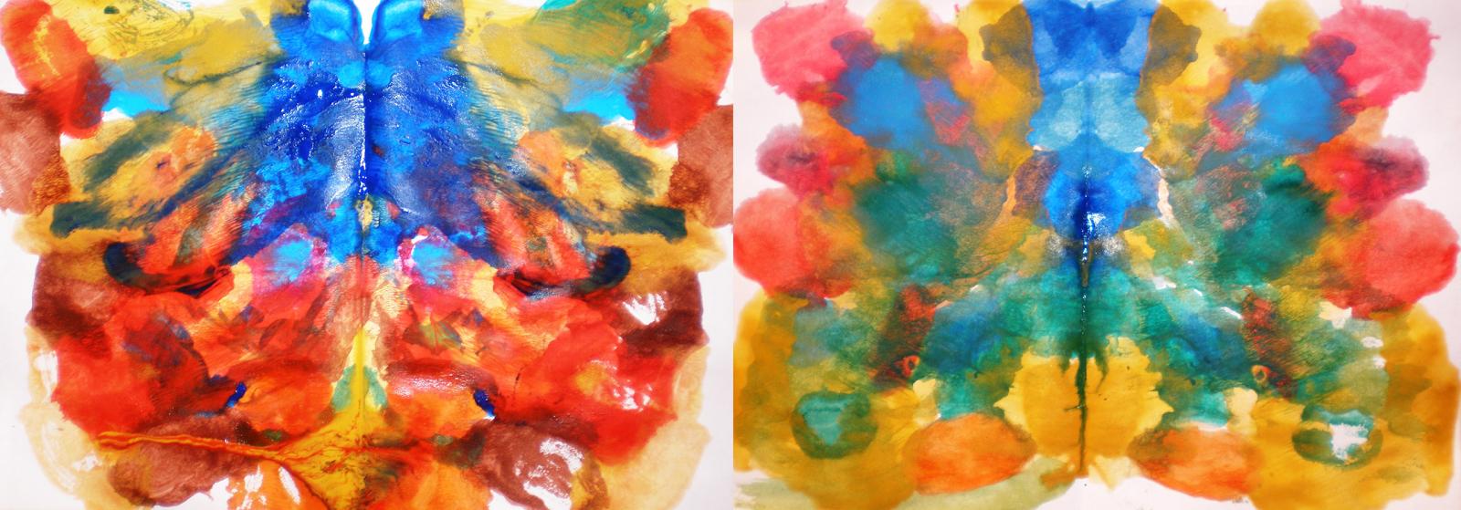 Tehnica formelor spontane - pictură abstractă