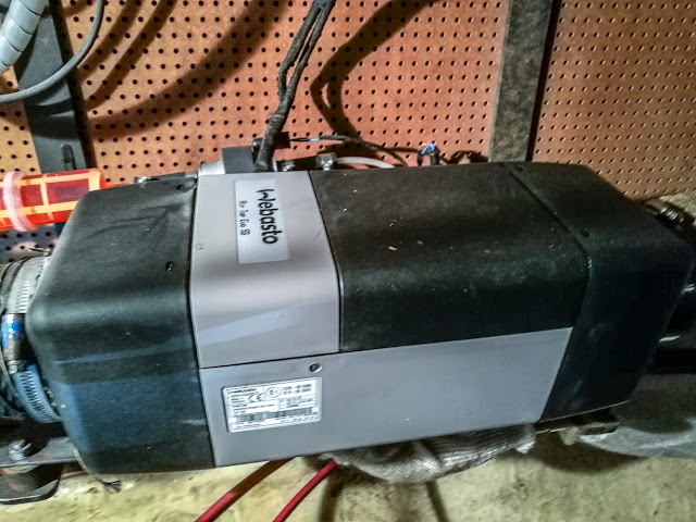 Photo of the Webasto 5 diesel heater that keeps us warm on board Ravensdale