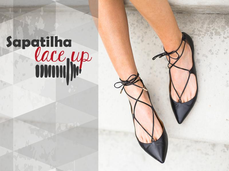 Como usar sapatilha lace up, Flats, Shoes, Sapatos, Sapatilhas de amarrar, Estilo, Moda, Fashion, Tendência