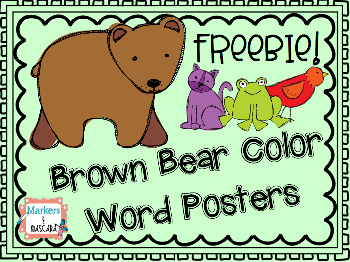 http://www.teacherspayteachers.com/Product/Brown-Bear-Color-Word-Posters-Freebie-1319034