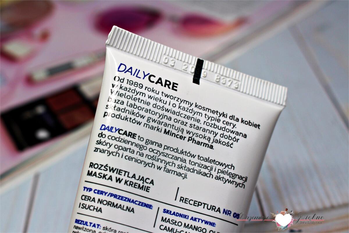 Mincer Pharma Daily Care - Maska rozświetlająca w kremie