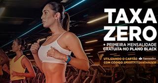 Promoção Santander SmartFit 2017 Taxa Zero Mensalidade Grátis