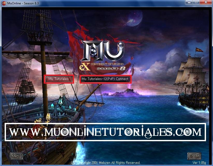 Interfaz del cliente Season 8 ep3 MuEMU
