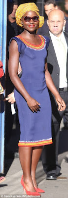 "Lupita Nyong'o ""Queen of Katwe"" Headwrap Look book DiscoveringNatural"