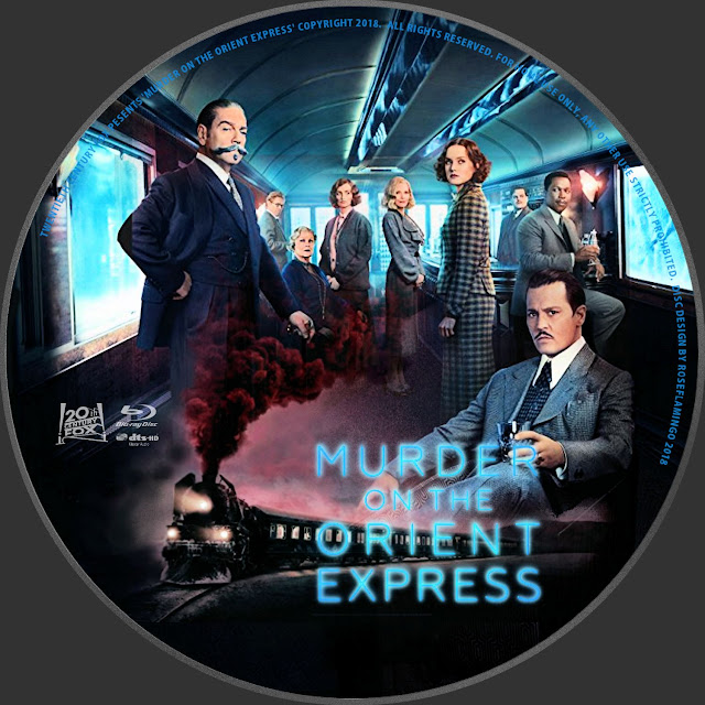 Murder On The Orient Express Bluray Label