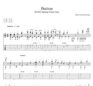 Guitar unravel guitar tabs : リライフ】 ReLIFE OP 「ボタン」 Fingerstyle Guitar Cover [TAB+PDF ...