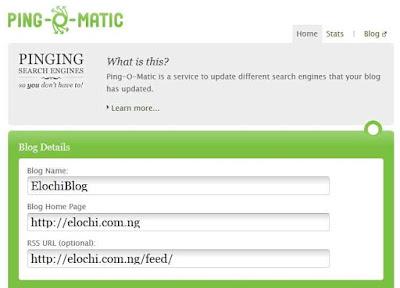 ping my blog