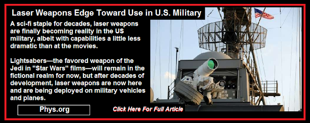 Laser Weapons Edge Toward Use In US Military