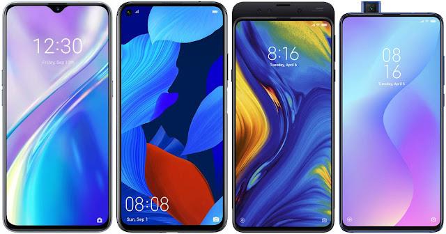 Realme X2 vs Huawei Nova 5T vs Xiaomi Mi Mix 3 vs Xiaomi Mi 9T