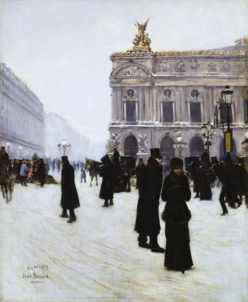 Peinture Française du 19ème Siècle: Outside the Opera, Paris (1879)