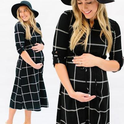 Women's Casual Boho Chic Maternity Dress