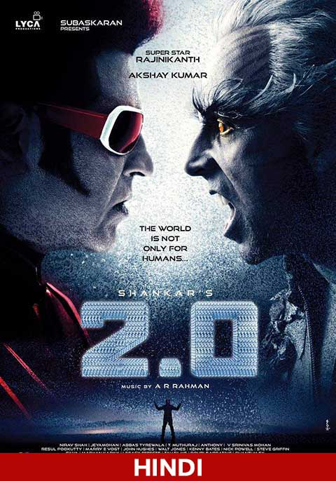 2.0 (2018) Hindi Dual Audio 600MB UNCUT HDRip 720p HEVC x265
