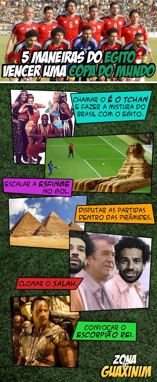 5 maneiras do Egito vencer uma Copa do Mundo