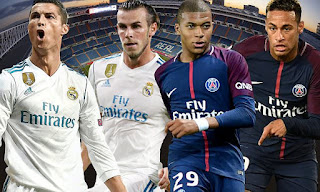 Real Madrid vs PSG stars head to head