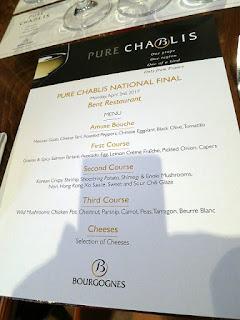 Bent Restaurant Chablis Pairing Menu