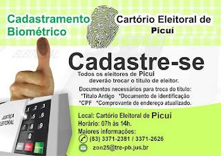 Biometria em Picuí e Baraúna: Na Semana Santa, atendimento será até terça-feira, dia 11