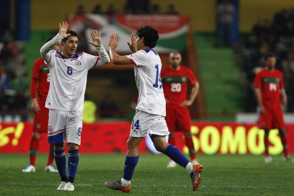 Portugal y Chile en partido amistoso, 26 de marzo de 2011