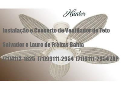 Conserto de Ventilador de Teto em Salvador-Ba