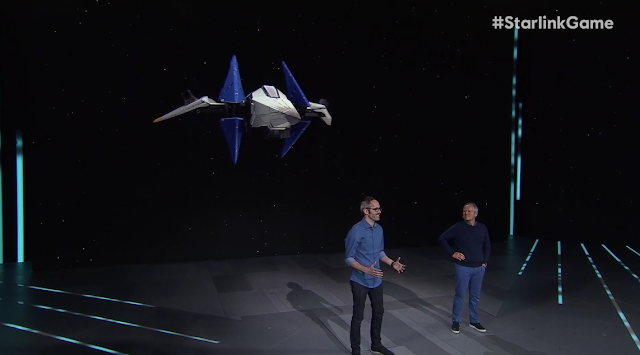 Ubisoft E3 2018 conference Starlink Star Fox Arwing render