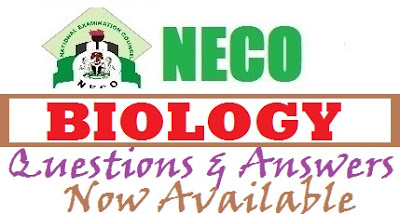 Complete NECO Biology OBJ Theory Answer 2017 Expo/Runz