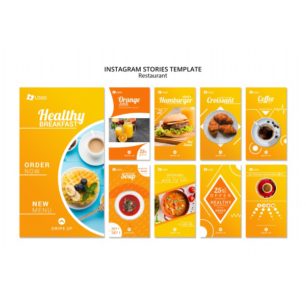 Healthy breakfast H5 Poster template design source file free psd