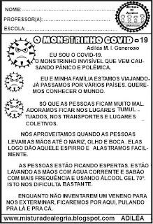 sobre coronavírus,leitura e interpretação de texto