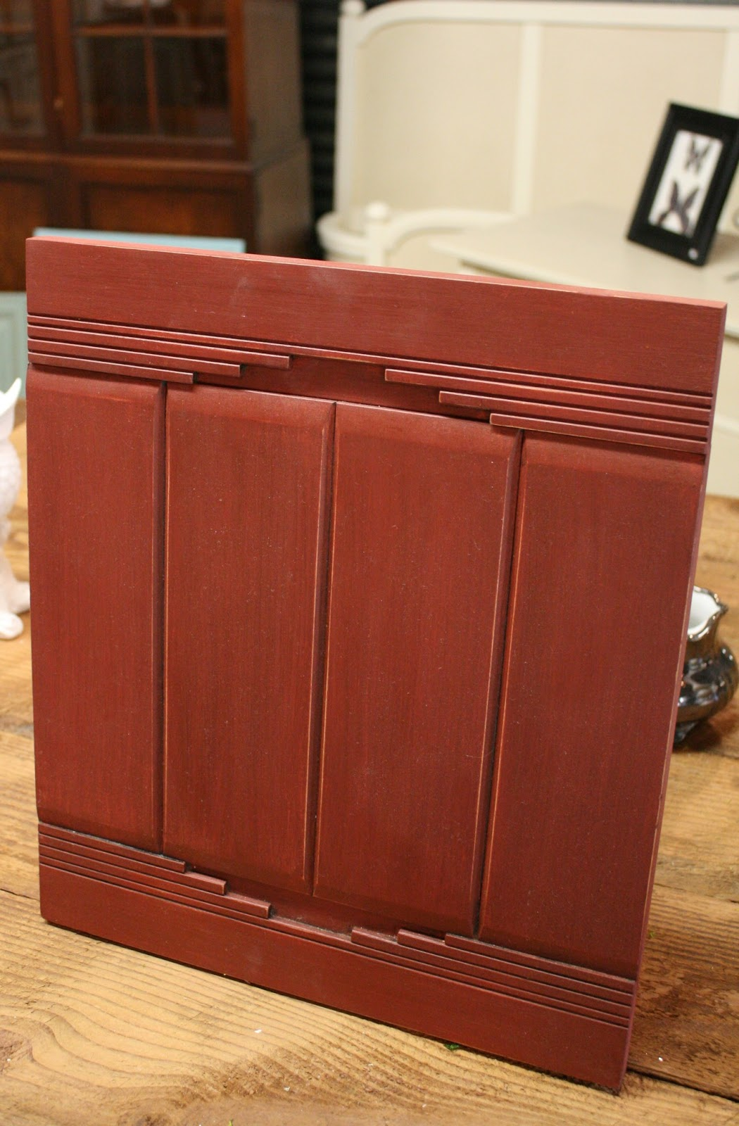Primer Red Chalk Paint Cabinets