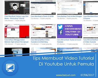 Tips Membuat Video Tutorial di Youtube Untuk Pemula