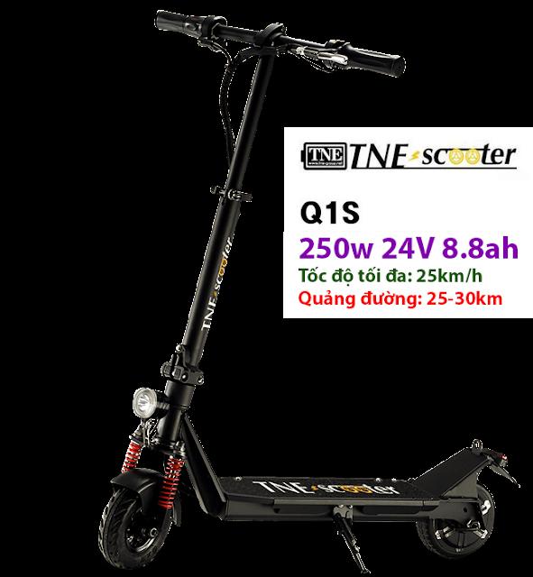 tne scooter đã có phiên bản nhỏ gọn tốc độ 25km/h quảng đường 25-30km