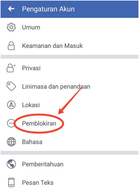 Cara Melihat Orang/Teman yang Kita Blokir di FB