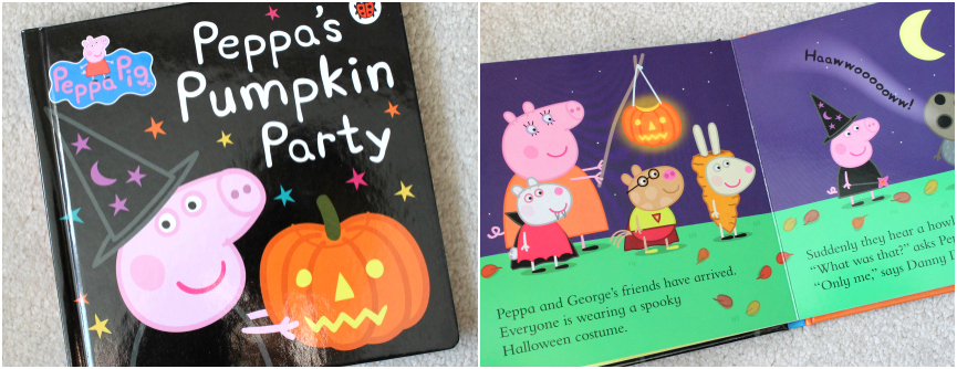 Peppas Pumpkin Party, Kids Halloween Books, peppa halloween book
