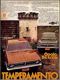 propaganda Chevrolet Opala De Luxo 1971, Chevrolet década de 70, GM anos 70, 70's Brazil General Motors, chevrolet station-wagon, Oswaldo Hernandez,