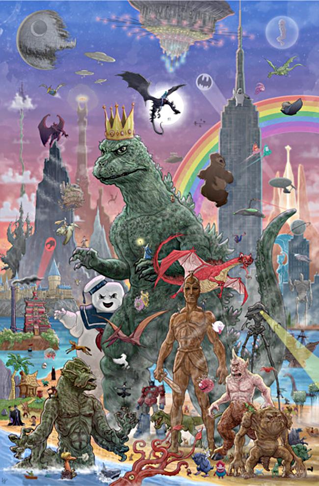 PJ McQuade (US) - Godzilla poster