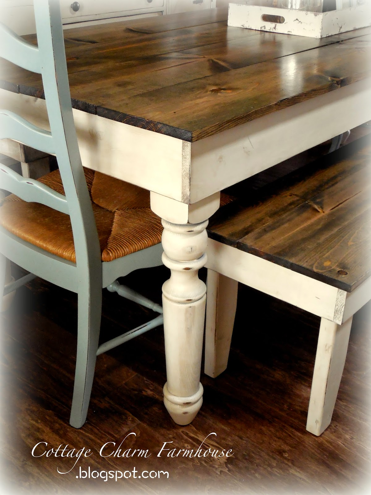Cottage Charm Creations Old English Farmhouse Tables
