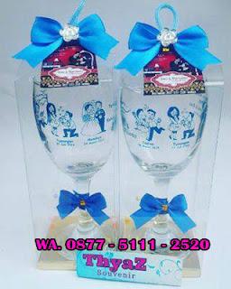 Gelas Pernikahan Wine Clear Murah