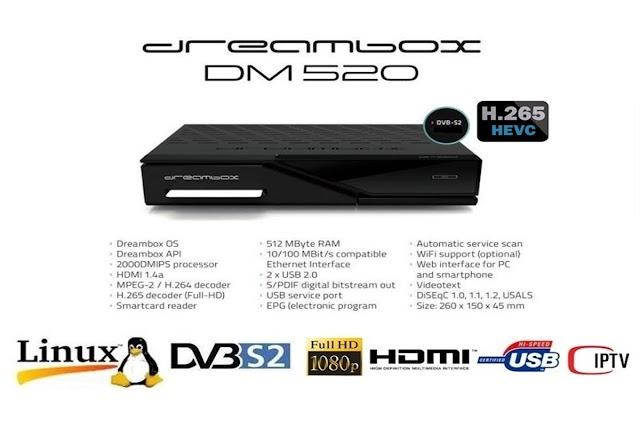 DREAMBOX DM 520 HD ATUALIZAÇÃO V 5.5 - 19/08/2016