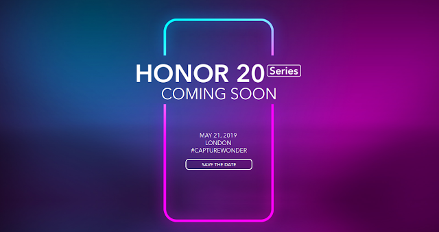 Honor 20 Series Launching on May 21st