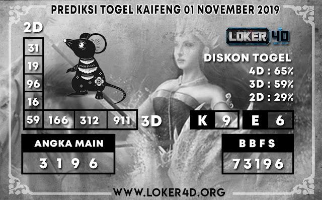 PREDIKSI TOGEL KAIFENG LOKER4D 01 NOVEMBER 2019