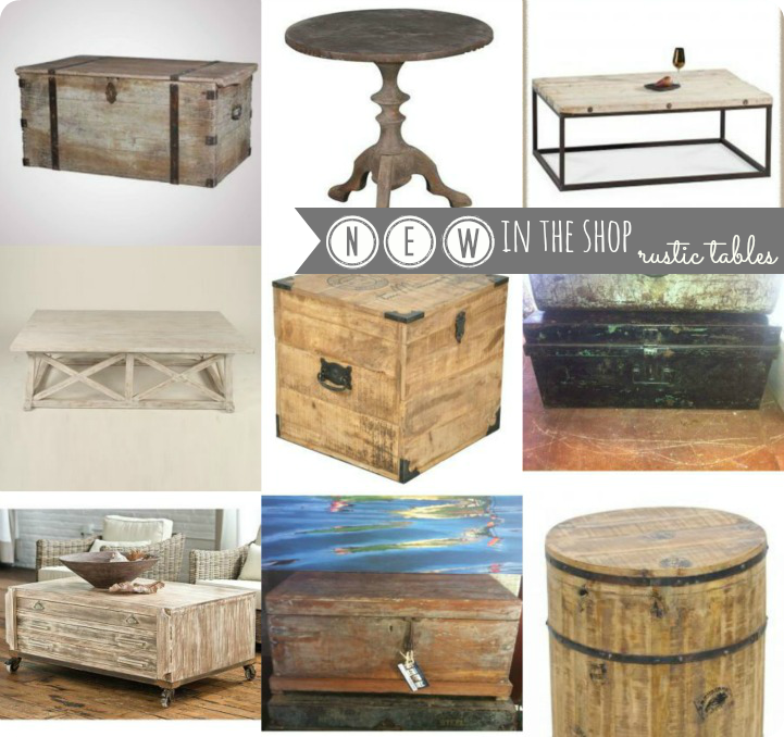 Coastal rustic tables