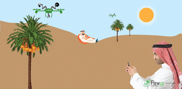 FLEWRO - Drones to pluck dates, coconuts, fruits from trees.