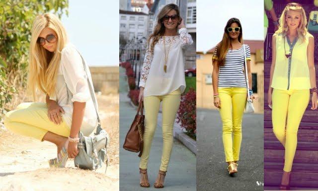 Como usar skinny amarela
