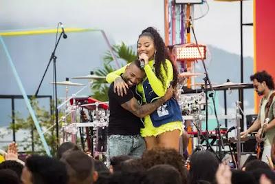 Ludmilla recebe Nego do Borel no palco do 'SóTocaTop Verão'