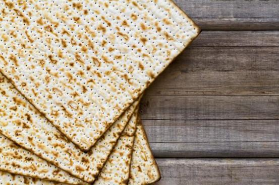 During Passover Jews eat matzah, which is unleavened bread