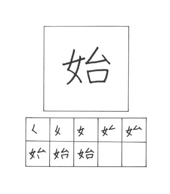 kanji memulai