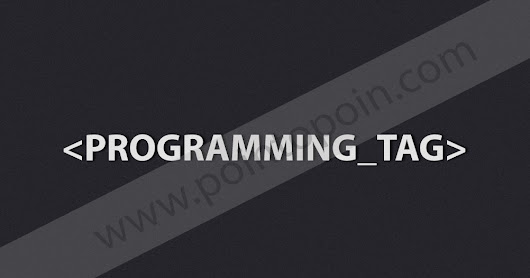 Pointopoin: Tag Pada HTML Part 12 : Programming Tag