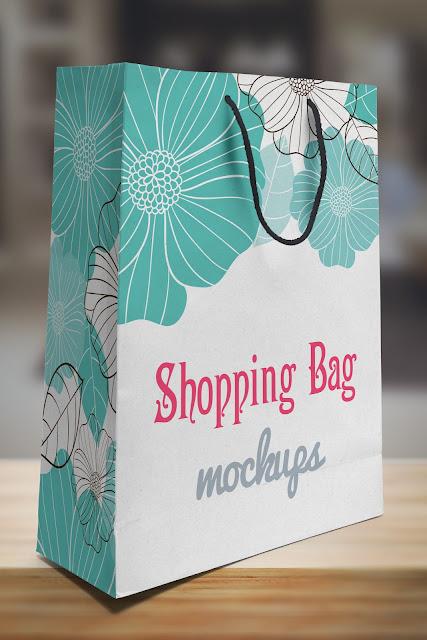 Paper Bag PSD Mockup