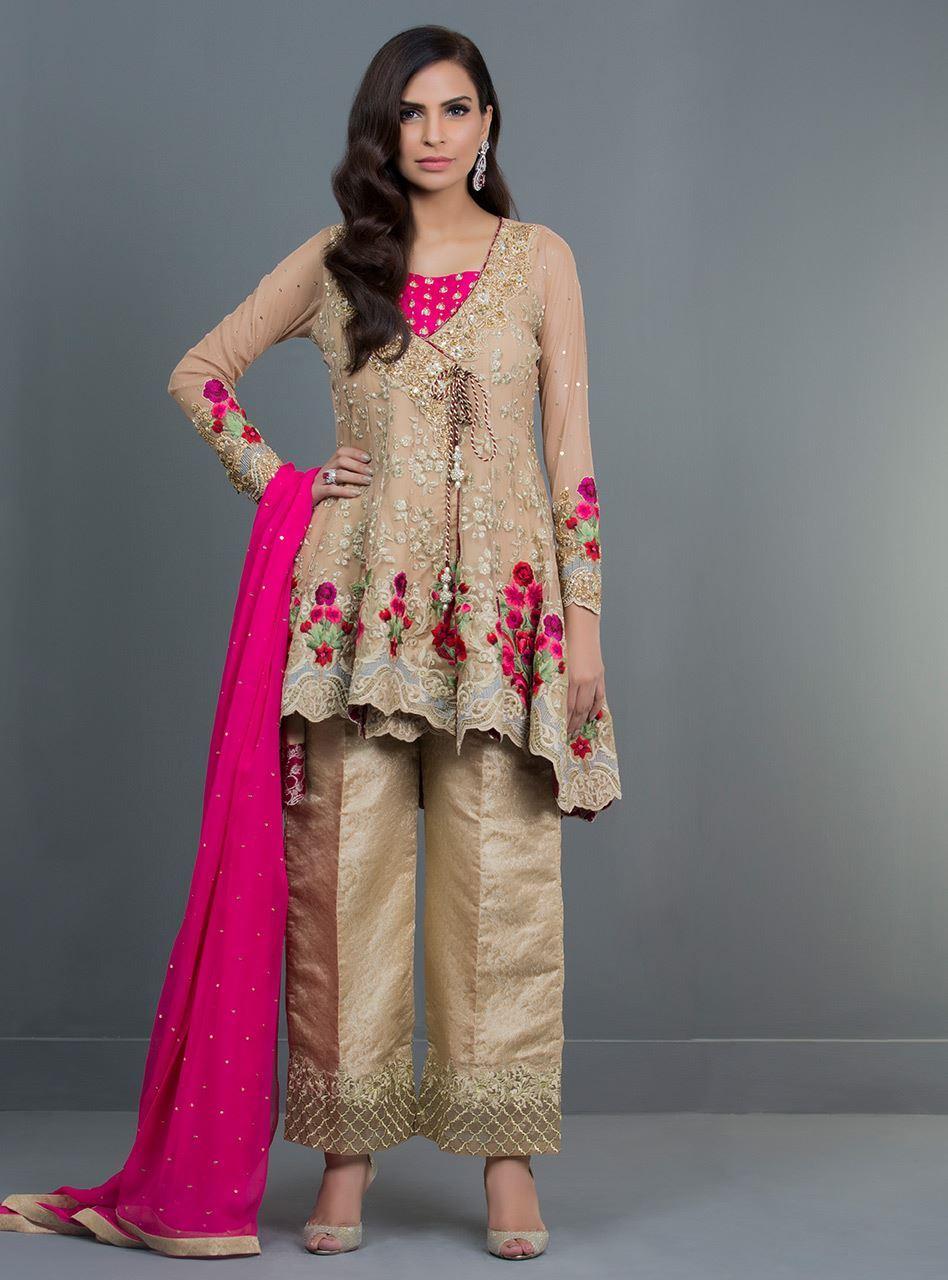 08486a73a0 Zainab Chottani Formal Light Collection 2019 GOLDEN SHADOW CASCADE ...